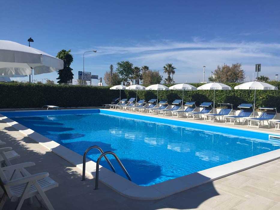 Hotel With Swimming Pool In Rimini Facing The Sea A Swimming Pool Directly On The Seafront Of